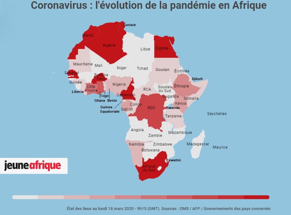 Cartina Italia E Africa.L Africa E Il Coronavirus Greenreport Economia Ecologica E Sviluppo Sostenibile