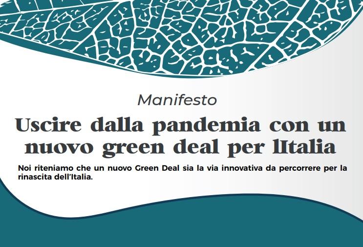"""Il manifesto """"Uscire dalla pandemia con un nuovo Green Deal per l ..."""