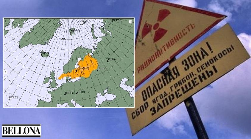 Allarme nube radioattiva nel Nord Europa: